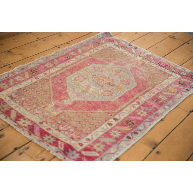 "Boho Chic Vintage Distressed Oushak Rug - 2'9"" X 3'11"" For Sale - Image 3 of 9"
