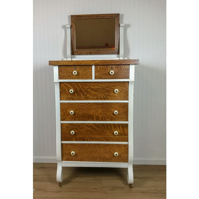 Farmhouse Style Dresser With Attached Mirror For Image 9 Of
