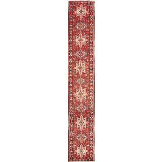 1950s Vintage Persian Karadjeh Runner Rug - 2′1″ × 12′7″ For Sale