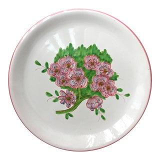 "Italian Faience Geraniums Platter-13"""