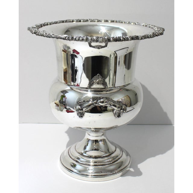 Vintage Sheridan Champagne Ic Bucket Silver Plate from a Palm Beach estate.
