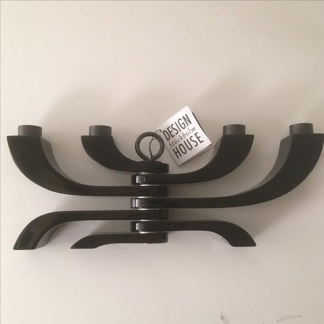 Design House Stockholm Black Lacquer Candleholder - Image 4 of 9