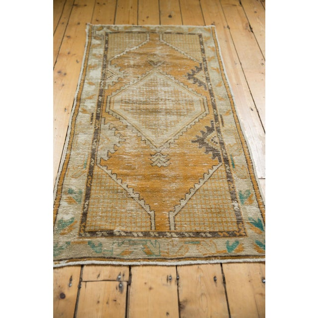 """Old New House Vintage Distressed Oushak Rug Runner - 2'7"""" X 5'3"""" For Sale - Image 4 of 9"""