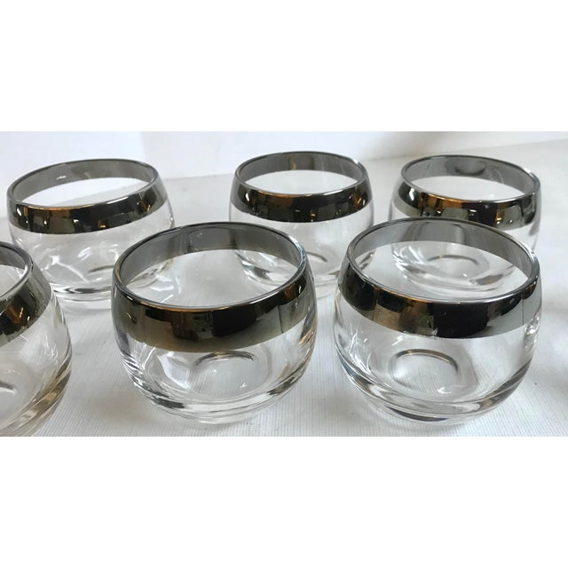 Vintage Dorothy Thorpe Glass Silver Band Punch Bowl Set- 10 Pieces For Sale - Image 10 of 11