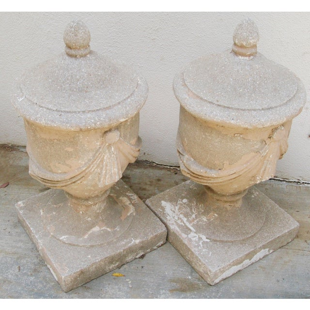 Large Estate Concrete Garden Finials - Pair - Image 10 of 11