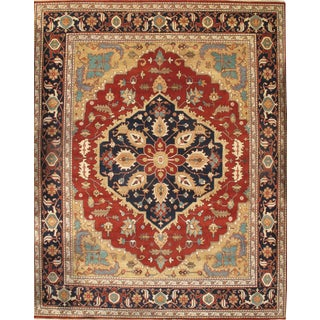 """Pasargad N Y Indian Serapi Hand-Knotted Rug - 11'9"""" X 14'8"""" For Sale"""