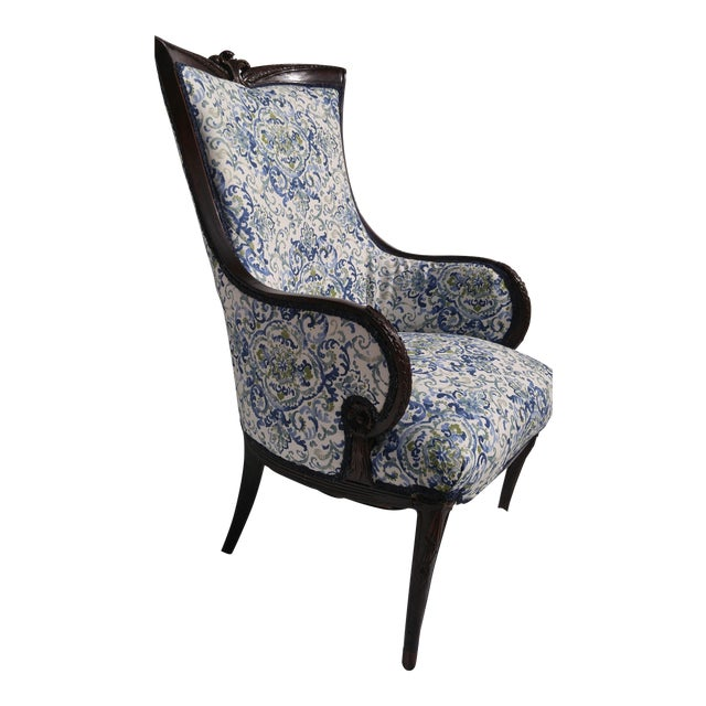 Transitional Antique Wooden Arm Chair - Image 1 of 11