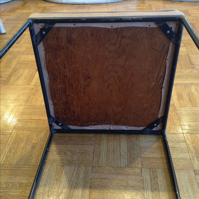 1950s Vintage Frederic Weinberg Wrought Iron Stool - Image 5 of 6