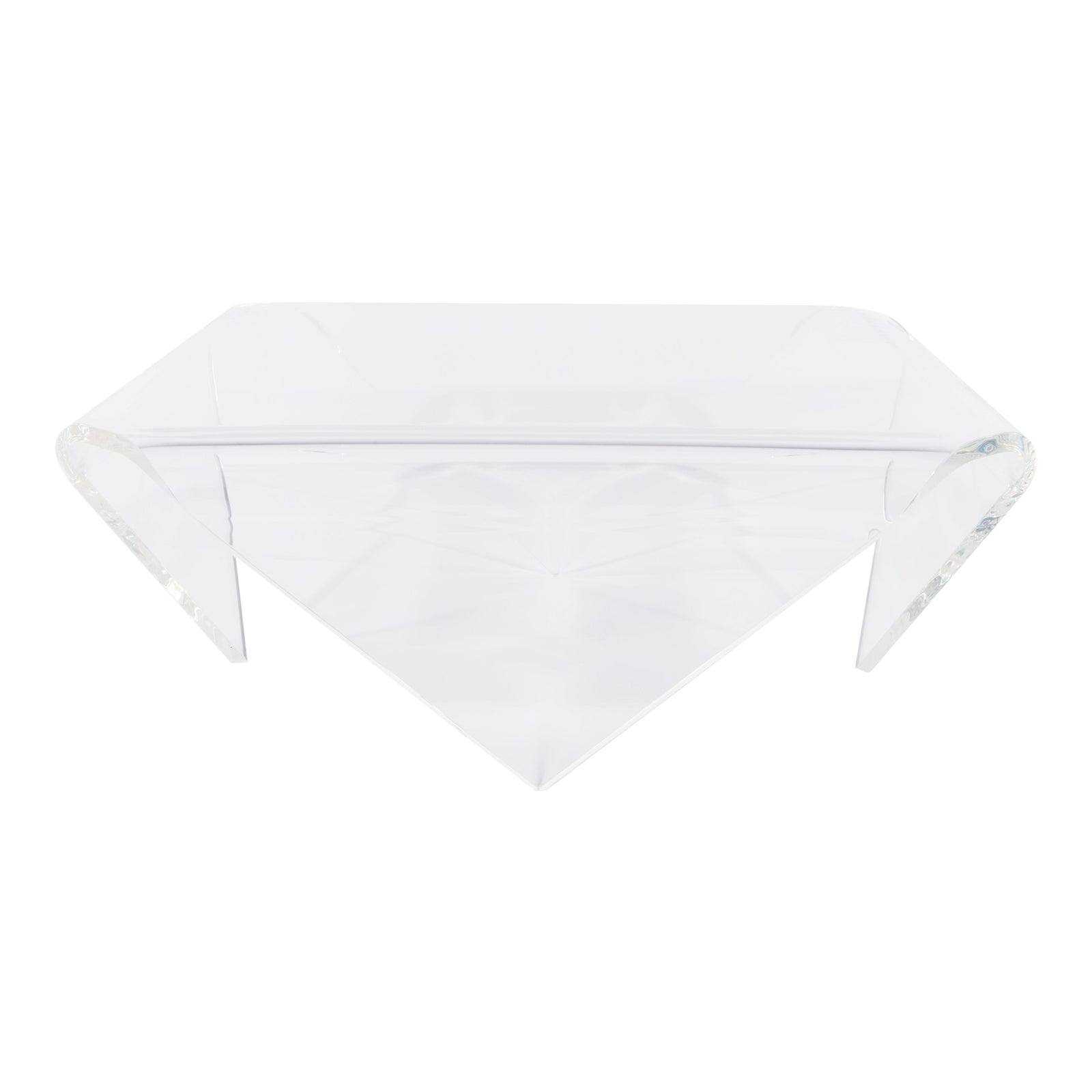 Exquisite Square Folded Acrylic Cocktail Table By John Harris, Circa