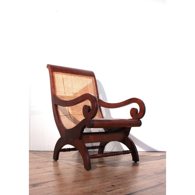 British Colonial Plantation Cane Chair - Image 8 of 8