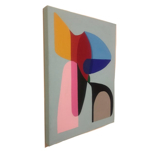 2018 Brooks Burns Original Modern Abstract Sculptural Acrylic Painting For Sale - Image 4 of 6
