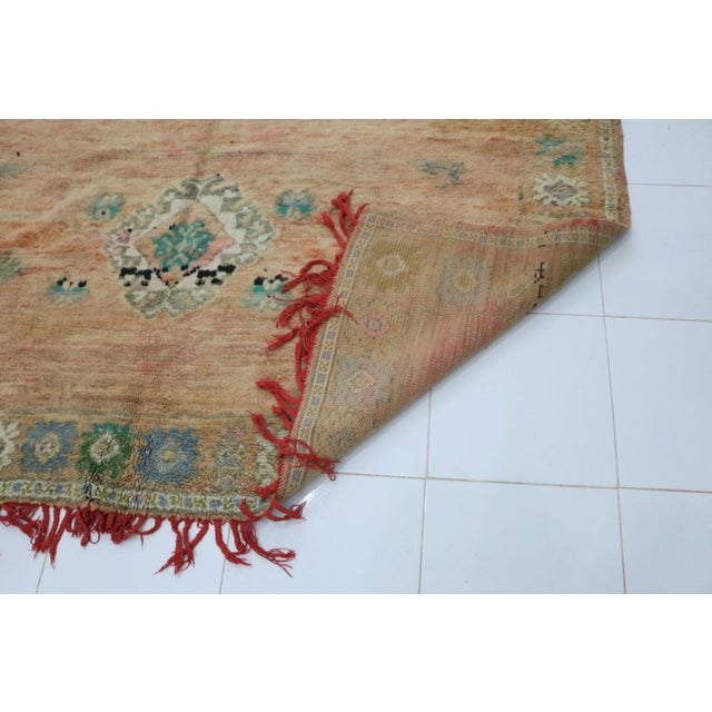 1970s Vintage Moroccan Boujad Rug- 6′8″ × 13′7″ For Sale - Image 4 of 6