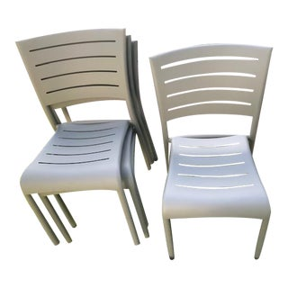Florida Seating Coated Metal Chairs - Set of 4 For Sale
