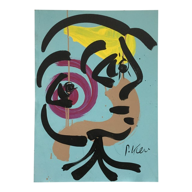 Abstract Peter Keil Acrylic Painting For Sale