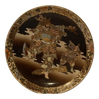 Late 19th Century Meiji Period Satsuma Dish For Sale