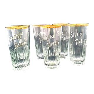Vintage Stella Artois Glasses - Set of 6