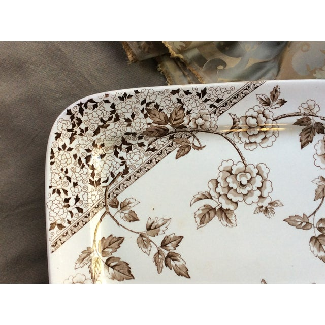 For your consideration....A fine LARGE platter made at Staffordshire prior to 1885 by J. F. Wileman, then operating at the...