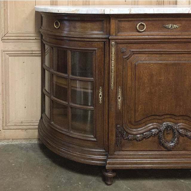 19th Century French Louis XVI Marble Top Display Buffet For Sale In Dallas - Image 6 of 12