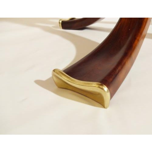 Osvaldo Borsani Rare and Important Center Table in Cherry and Glass For Sale In New York - Image 6 of 9