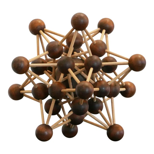 Vintage Molecular Wood Model For Sale