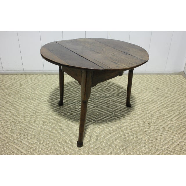 Wood 1900s Traditional Round Cricket Table For Sale - Image 7 of 7
