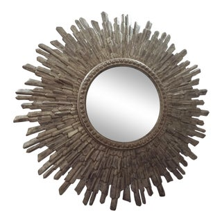 Late 20th Century Silver Gilt Starbursts Mirror
