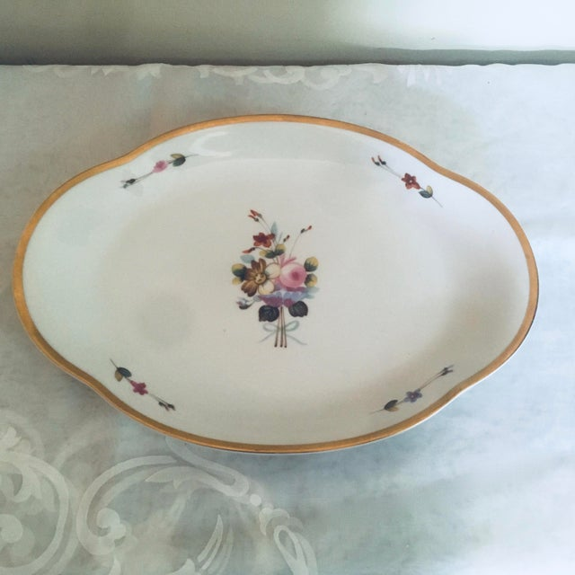 """Limoges serving platter Winterthur with gold rim 15"""" x 10"""". Like new. #limoges #vintage #china #hollywoodregency #chinoiserie"""