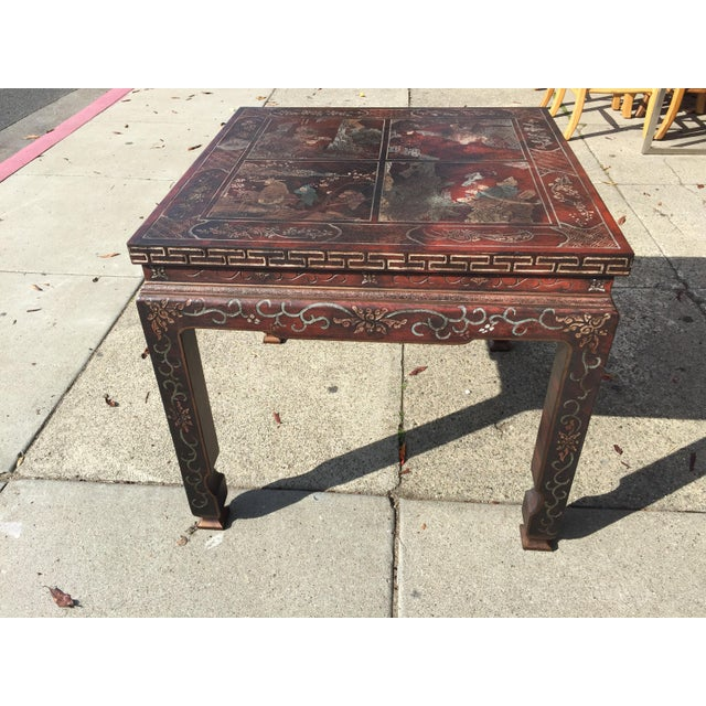Baker Furniture Chinoiserie Side Table - Image 6 of 8