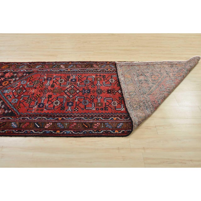 Vintage Persian Hamadan Runner - 4'2'' X 10' For Sale - Image 11 of 13