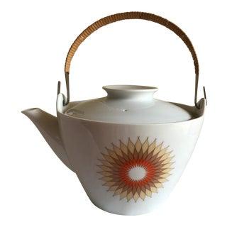 Mid Century Ceramic Sunshine Teapot