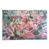 "Image of Vintage James Rosenquist Original Lithograph Print Pop Art Poster "" New York City Ballet "" 1988 For Sale"