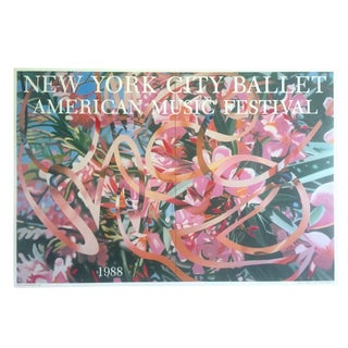 "Vintage James Rosenquist Original Lithograph Print Pop Art Poster "" New York City Ballet "" 1988 For Sale"