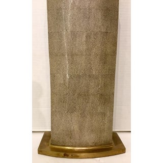 Modern Tall Taupe Porcelain Shagreen Table Lamp Preview