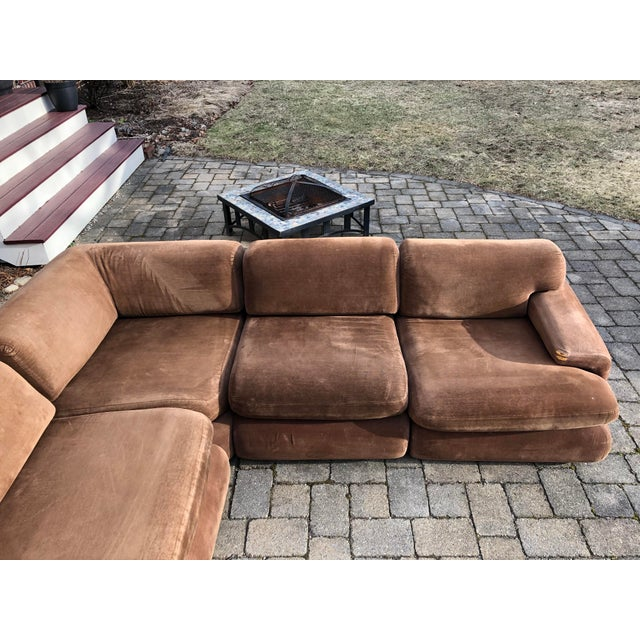 Brown Vintage 1970s Vladimir Kagan Modular Sectional Sofa by Preview For Sale - Image 8 of 13