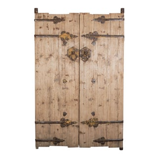 Antique Pine Chinese Doors/Gates - a Pair For Sale