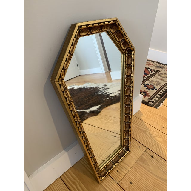 Gothic Gothic Wood Coffin Shaped Mirror For Sale - Image 3 of 6