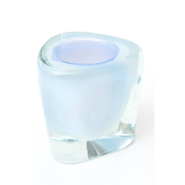 1960s Italian Murano Opalescent Sommerso Glass Vessel/Small Vase For Sale - Image 5 of 10