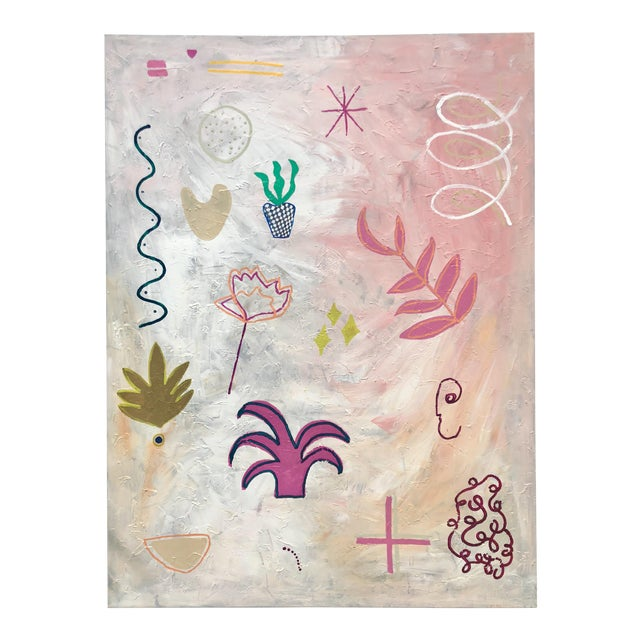 Oversized Original Abstract on Canvas by Virginia Chamlee For Sale