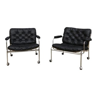 Pethrus Lindlöf Eva Lounge Chairs - A Pair For Sale