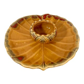 Mid Century Ceramic Chip and Dip Tray For Sale