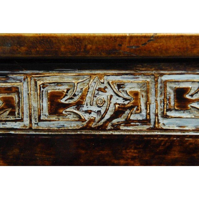 Chinese Floral and Foliate Painted Relief Panel For Sale - Image 9 of 11
