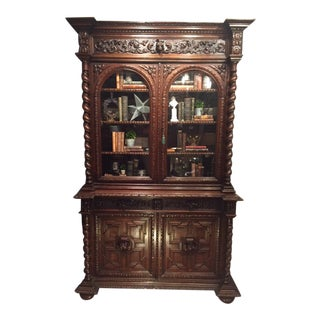 19th Century French Hunt Cabinet For Sale
