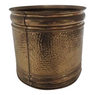 Vintage Brass Round Catchpot For Sale