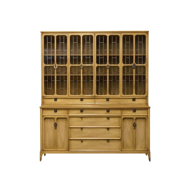 """White of Mebane Contemporary French Style 67"""" China Cabinet For Sale"""