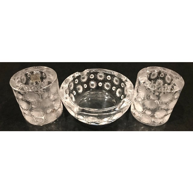 Transparent 1920s Antique Lalique Tokyo Ashtray and Cigarette Holders - 3 Pieces For Sale - Image 8 of 11