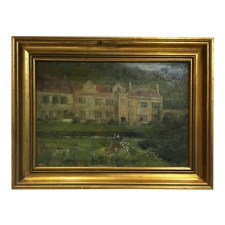 19th Century English Oil Painting on Board For Sale