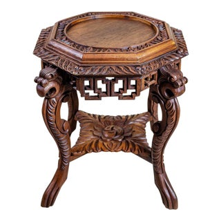 19th-Century Chinese Side Table-Flower Stand For Sale