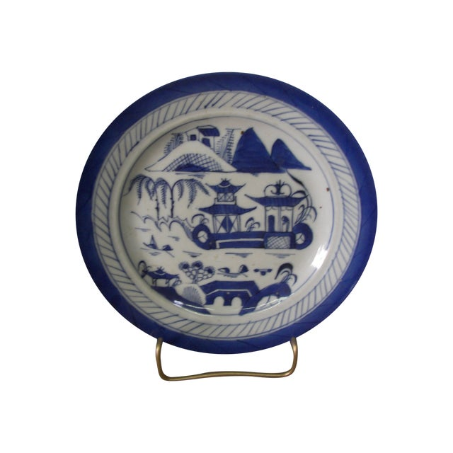 Old Canton Porcelain Plate - Image 1 of 3