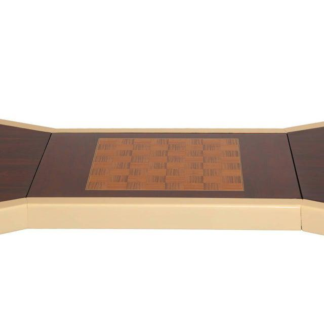 1970s 1970s Vintage Rosewood Brass and Laquered Italian Game Table For Sale - Image 5 of 10