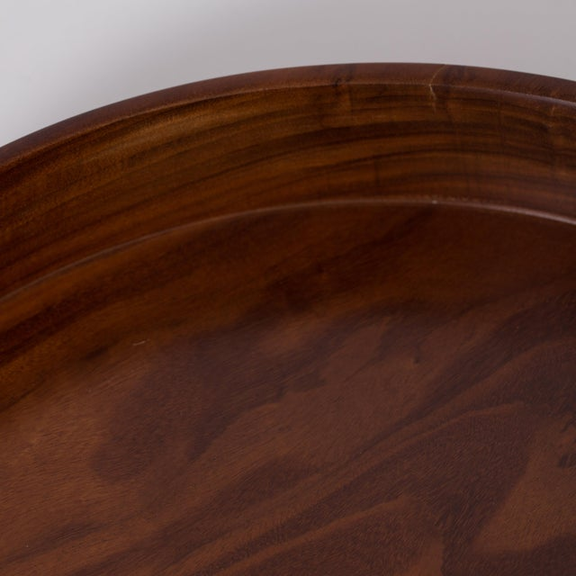 Hand Carved Corteza Lingnum Vitae Cylindrical Bowl For Sale - Image 9 of 9